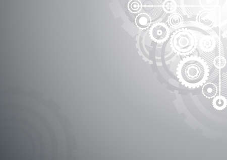Vector illustration of a technological clockwork cog  in silver color. illustration