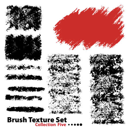 Vector outline traces of customizable organic paint brushes (strokes) in different shapes and styles, highly detailed. Grouped individually, easily editable. Collection set number 5.