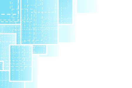 Vector illustration of a presentation sheet corner design. Technological dashed theme. Stock Illustration - 3983633