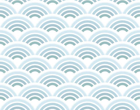 Vector illustration of a retro half circles seamless pattern background wallpaper. illustration