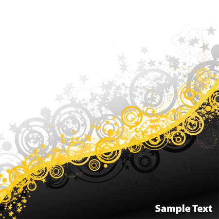 Vector illustration of a beautiful party abstract full of exploding stars and retro circles. Vector