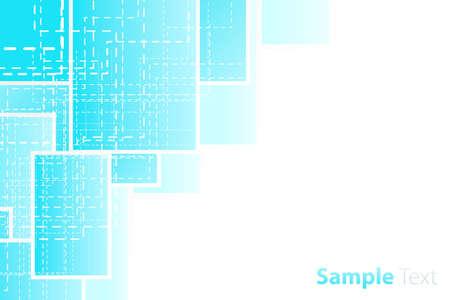 Vector illustration of a presentation sheet corner design. Technological dashed theme. Stock Vector - 4071068