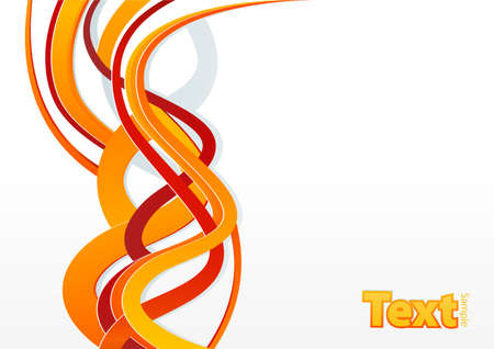 slick: Vector illustration of a flame wave slick abstract in orange and red color.