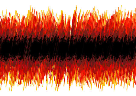 oscilloscope: Vector illustration of a red abstract distorted oscilloscope effect. Black stripe for custom elements. Illustration