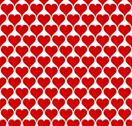 Vector illustration of a seamless wallpaper full of beautiful lovely valentine glossy hearts. Stock Illustration - 4133434
