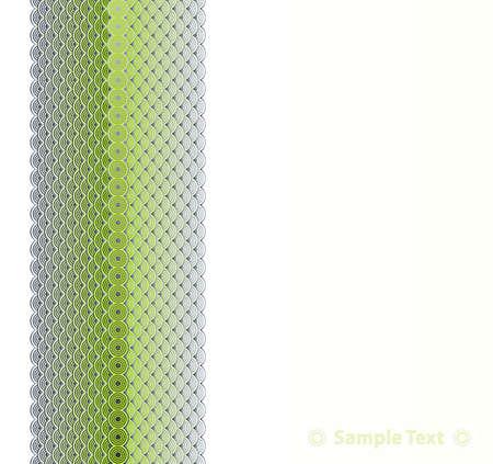 illustration of an ornamental decor retro circles design presentation sheet. Stock Vector - 6953177