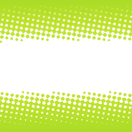 illustration of a green halftone banner stripe design. Illustration