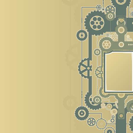 illustration of a technological clockwork cog background. Stock Illustration - 6953271