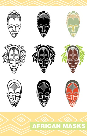 african mask: African masks