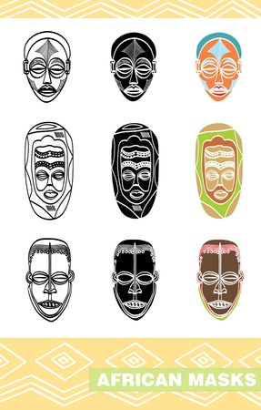 African masks Stock Vector - 16402659