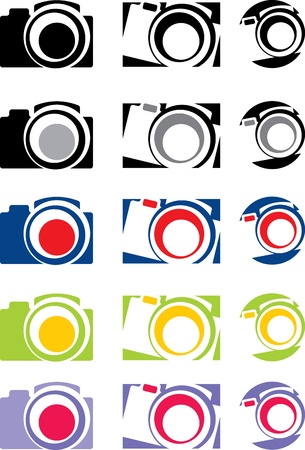 photo camera part 1, vector Stock Vector - 17034736