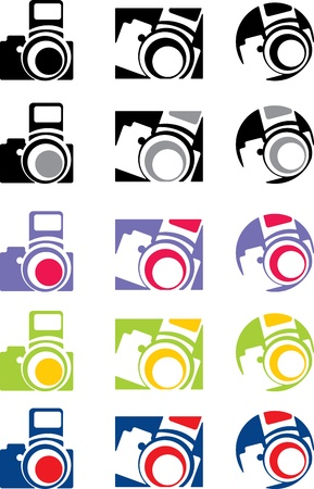 photo camera part 5, vector Stock Vector - 17034740