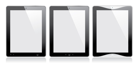 Digital tablet. Blank screen. Isolated on white. Vector. Illustration
