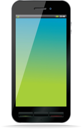 Black smart phone  Blank Screen  Isolated  Vector
