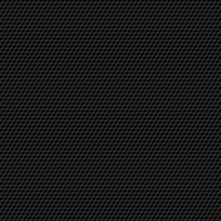 Black seamless cubic texture. Illustration