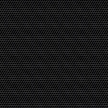Black seamless cubic texture. Illustration