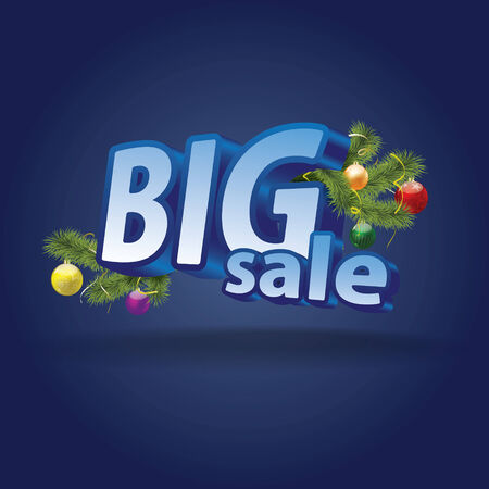 Inscription BIG SALE  Christmas decoration