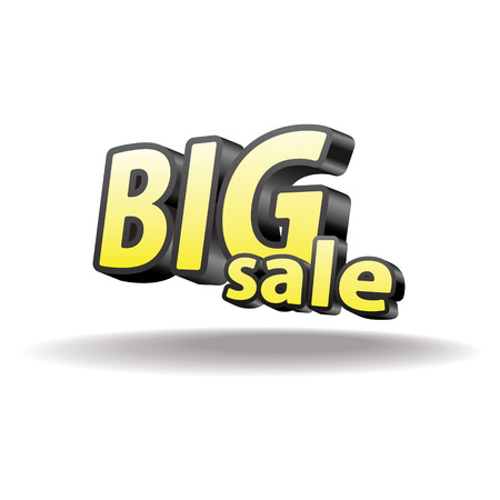 Isolated volumetric letters big sale  Isolated   Black and yellow