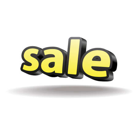 Isolated volumetric letters sale  Isolated  Black and yellow