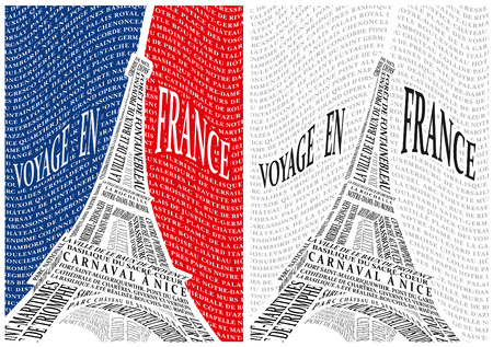 Eiffel Tower from the names of the attractions of France