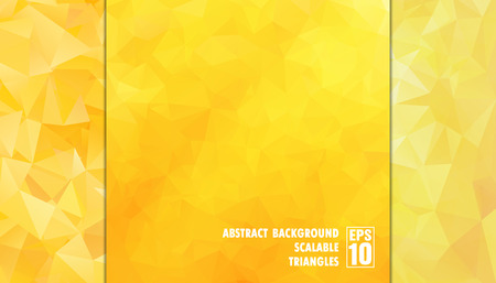 Abstract geometric background of triangles in yellow colors  Vector