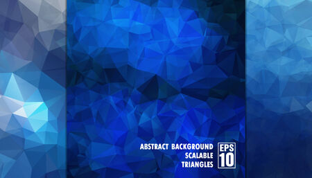 Abstract geometric background of triangles in blue colors  Vector