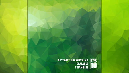 Abstract geometric background of triangles in green colors  Vector