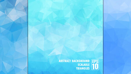 Abstract geometric background of triangles in light blue colors  Vector Illustration