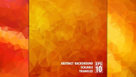 Abstract geometric background of triangles in orange colors  Vector