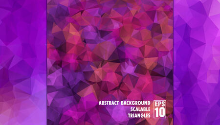 Abstract geometric background of triangles in purple colors  Vector