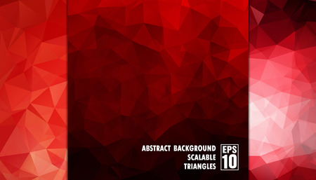 Abstract geometric background of triangles in red colors  Vector