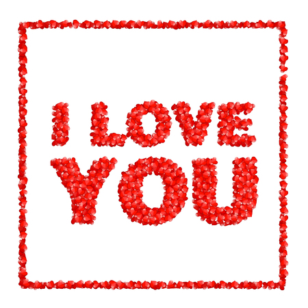 I love you. Abstract holiday background with hearts. Valentines day concept