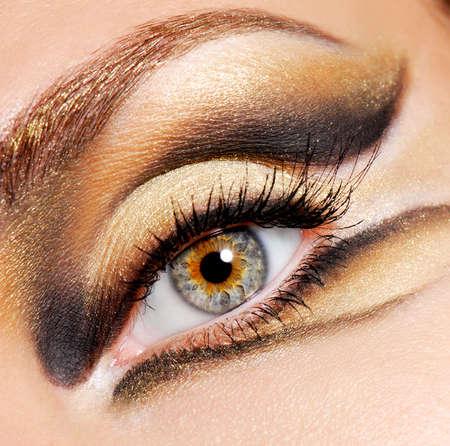 Human eye of woman with modern and stylish coloured eye make-up Stock Photo - 3704573