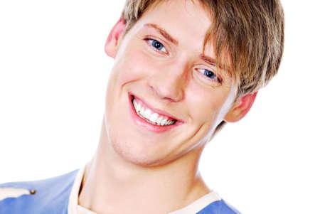 Sonriente cara de adolescente guapo persona del sexo masculino. Foto de archivo - 3704539