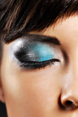 Part of young female face with beautiful fashion make-up Stock Photo - 3704567
