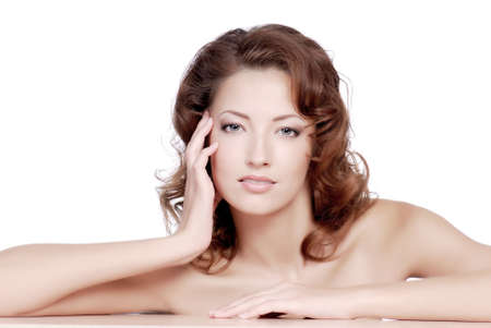 Attractive female face with the wellbeing condition of sking Stock Photo - 3704543