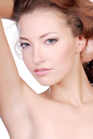 Beauty and sensuality woman face. photo