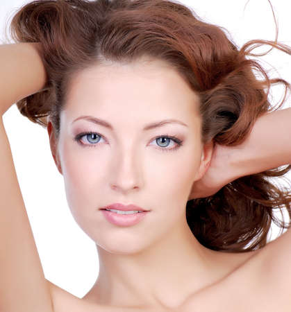 Attractive close-up woman face Stock Photo - 3704558