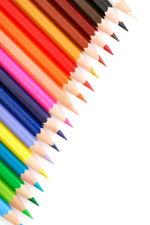 Large Group of Multicolored pencils. photo