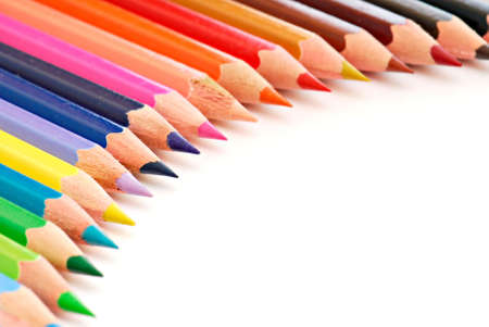 Beautiful semicircle composition of colored pencils Stock Photo - 3727483