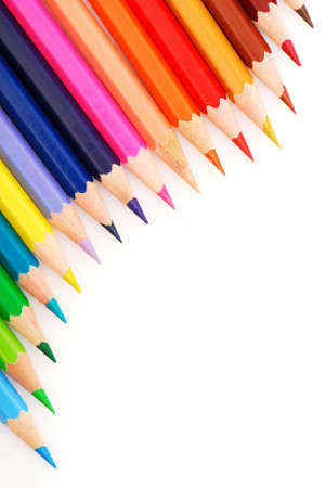 Composition of  Group multicolored  bright pencils photo