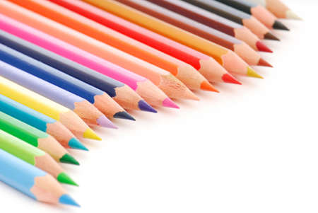 Palette of the variegated  pencils. Stock Photo - 3727482