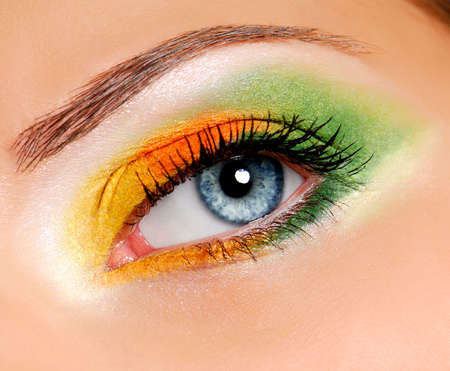ceremonial: Image of woman eye with ceremonial make-up