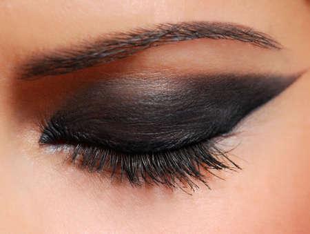 Long woman eyelashes brushing black mascara. Stock Photo - 3714766