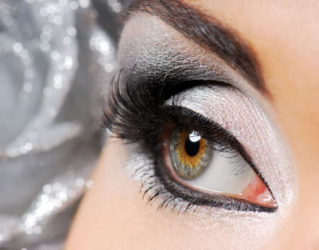 Fashion make-up on a  woman eye.