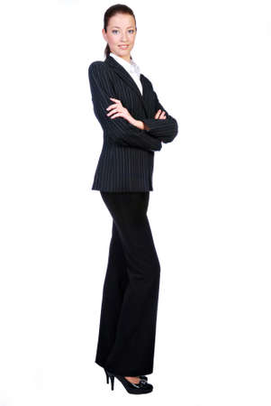 Businesswoman  isolated on a white background  photo