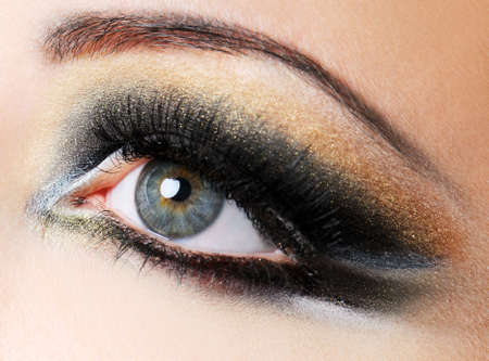 Creativity golden-brown modern make-up - beauty concept Stock Photo - 3922294