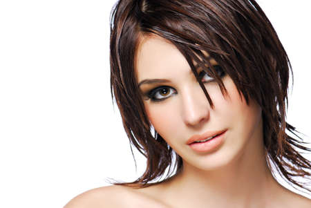 Portrait of attractive female teen with modern  creativity hairstyle Stock Photo - 3950312