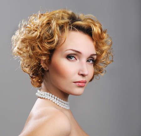 Elegance pretty blond woman - beautiful model Stock Photo - 4521964