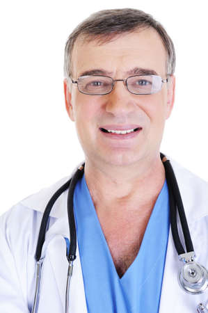 face of successful male doctor with toothy smile photo